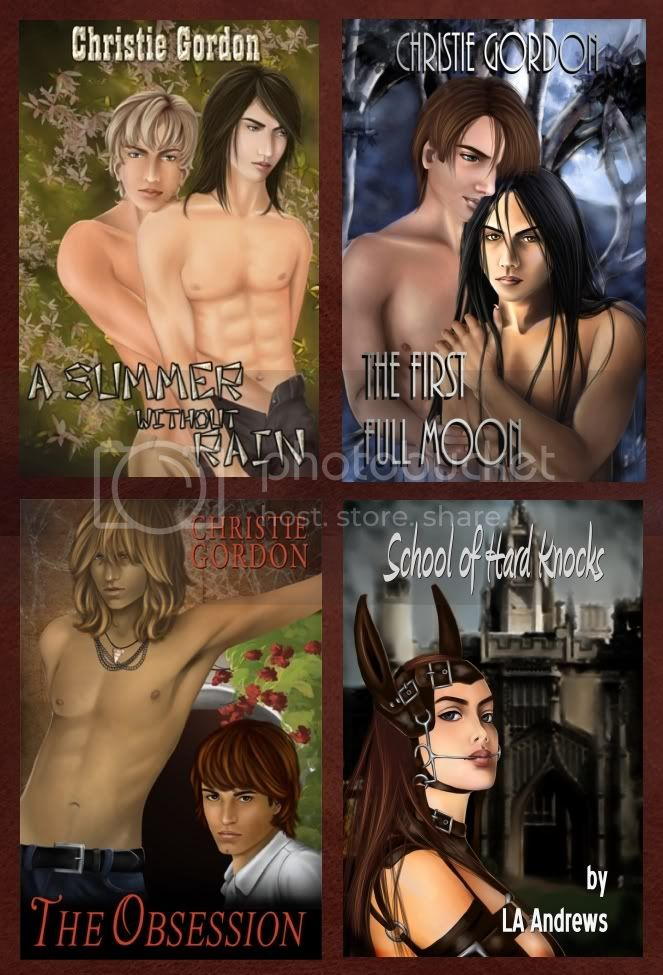 Christie Gordon M/M Yaoi Book Covers